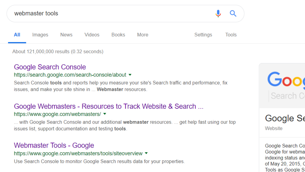 Display Website in Google Search