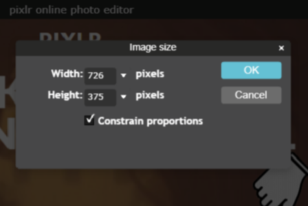 Reduce Image File Size in Pixlr