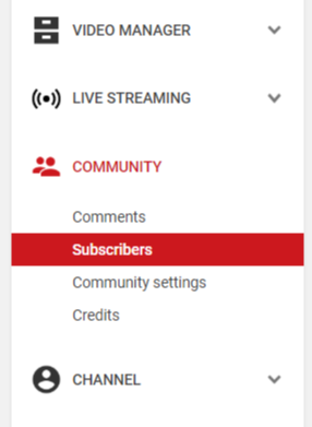 Community Option in Youtube Channel